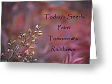 Todays Seeds Paint Tomorrows Rainbows Greeting Card