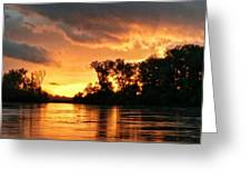 Today's Sunrise In Atchison.  Greeting Card