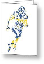 Todd Gurley Los Angeles Rams Pixel Art 30 Greeting Card