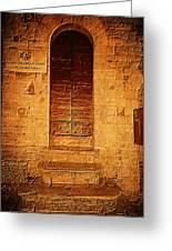 Todi Italy Medieval Door  Greeting Card