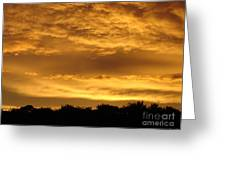 Toffee Sunset 3 Greeting Card