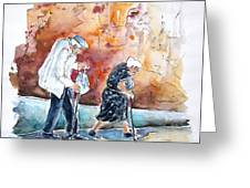 Together Old In Portugal 01 Greeting Card