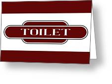 Toilet Station Name Sign Greeting Card