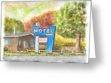 Toiyabe Motel In Walker, California Greeting Card