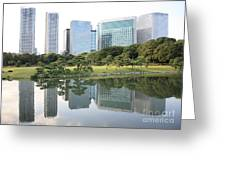 Tokyo Skyline Reflection Greeting Card