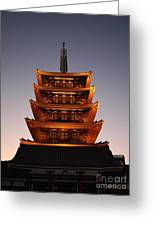 Tokyo Temple Lights Greeting Card