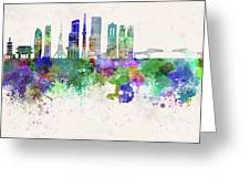 Tokyo V3 Skyline In Watercolor Background Greeting Card