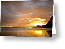 Tolaga Bay Pier IIi Greeting Card