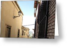 Toledo Alley View Greeting Card