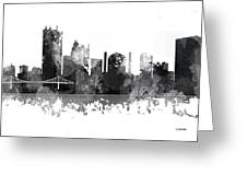 Toledo Ohio Skyline Greeting Card