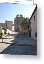 Toledo Steps To Cathedral Greeting Card