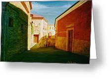 Toledo Street Scene In Toledo Spain Greeting Card