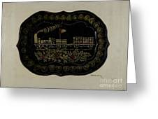 Toleware Tin Tray Greeting Card