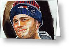Tom Brady Greeting Card by Dave Olsen