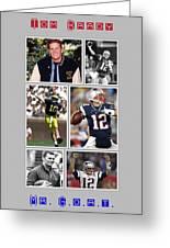 Tom Brady Football Goat Greeting Card