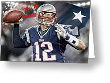 Tom Brady New England Patriots Greeting Card