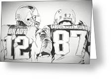 Tom Brady Rob Gronkowski Sketch Drawing By Dan Sproul