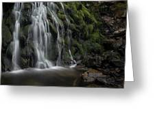 Tom Gill Waterfall, Cumbria, England Greeting Card
