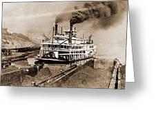 Tom Greene River Boat Greeting Card