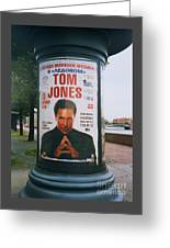 A Rare Collectible Poster Of Tom Jones In Russia Greeting Card