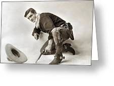 Tom Mix (1880-1944) Greeting Card