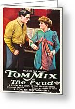 Tom Mix In The Feud 1919 Greeting Card