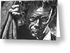 Tom Waits Greeting Card by Ken Meyer jr