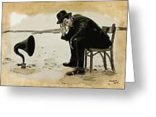 Tom Waits Greeting Card by Sean King
