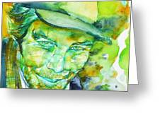 Tom Waits - Watercolor Portrait.5 Greeting Card