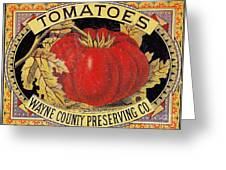 Tomato Can Label Greeting Card