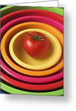 Tomato In Mixing Bowls Greeting Card