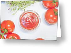 Tomato Sauce Bowl Greeting Card