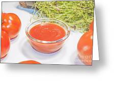 Tomato Sauce Greeting Card