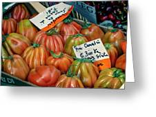 Tomatoes At Market Greeting Card