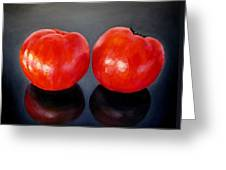 Tomatoes Original Oil Painting Greeting Card