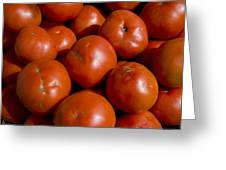 Tomatoes Sit In The Sun Awaiting Buyers Greeting Card