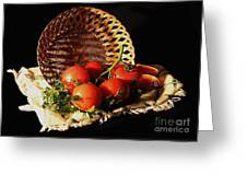 Tomatos. Out Of Basket. Greeting Card