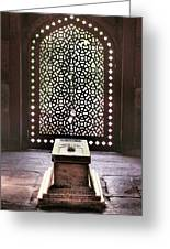 Tomb At The Humayun Temple Complex Greeting Card