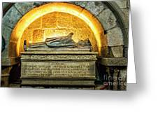 Tomb Of Dona Teresa Greeting Card