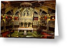 Tomb Of Saint Eulalia In The Crypt Of Barcelona Cathedral Greeting Card