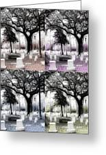Tomb Stones Of Many Prayers Greeting Card