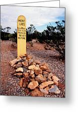 Tombstone Boot Hill Greeting Card