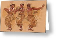Tonga Dance From Niuafo'ou Greeting Card