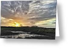 Tonight's Sunset From Thornham Greeting Card