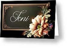 Toni Greeting Card