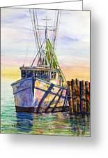 Tonyo Shrimp Boat Greeting Card