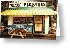 Tony's Pizzaria Greeting Card
