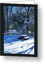 Too Cold To Picnic Greeting Card