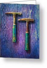 Tools On Wood 65 Greeting Card