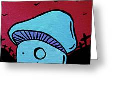 Toothed Zombie Mushroom Greeting Card